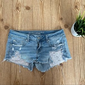 American Eagle Distressed Denim Shorts 4